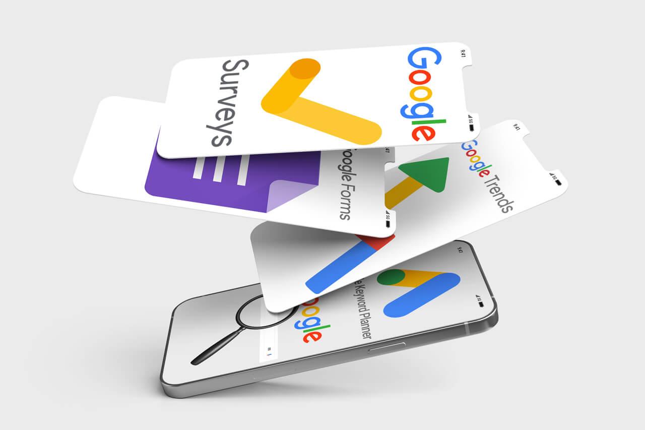 Ferramentas do Google focada em pesquisas