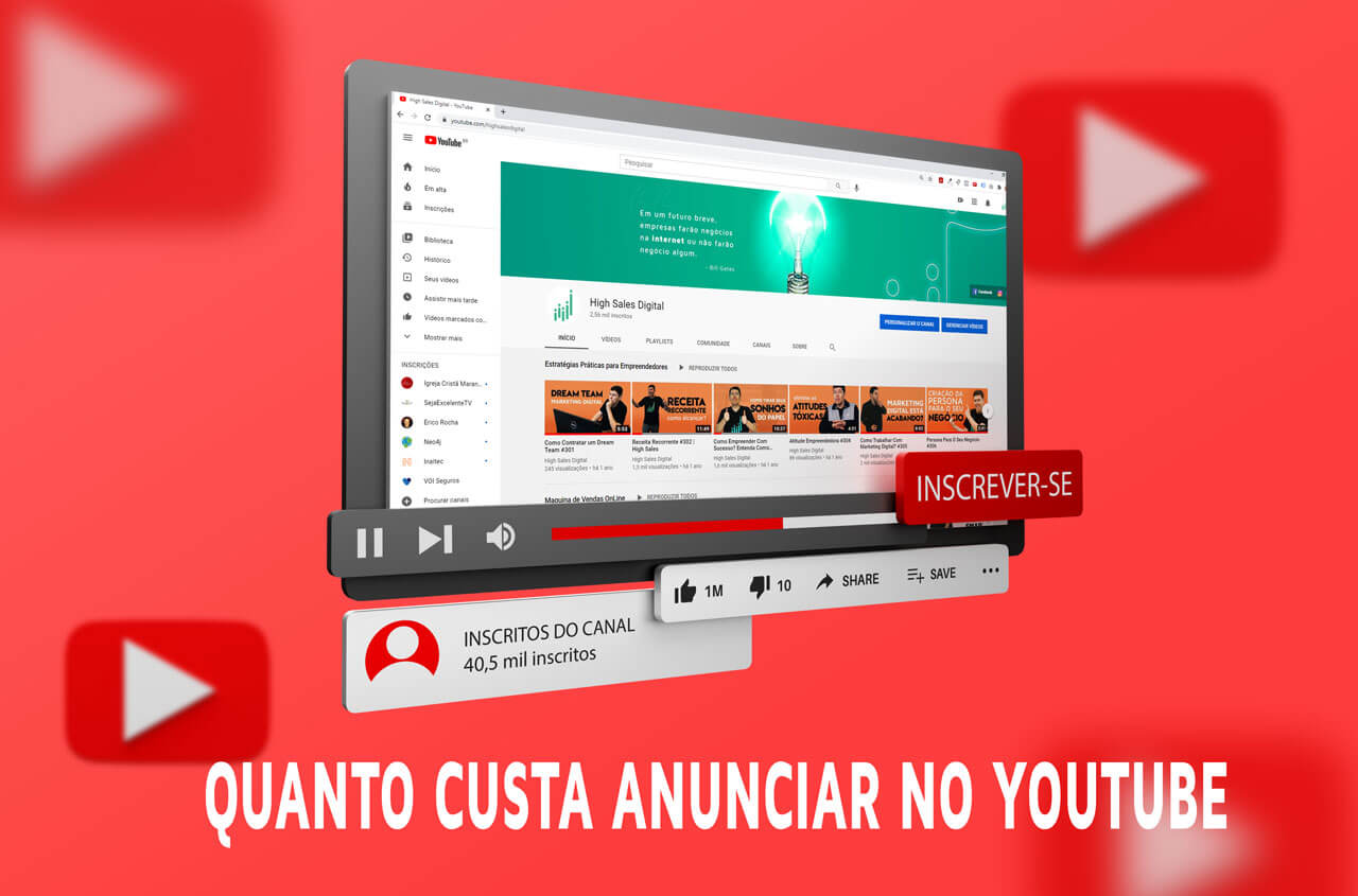 Quanto custa anunciar no YouTube?