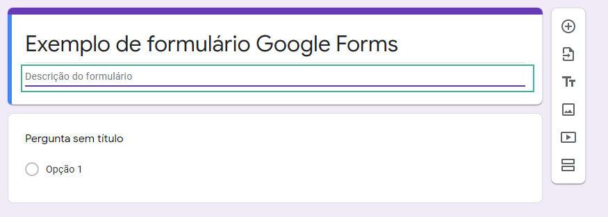 Como editar um formulario no googleforms passo tres