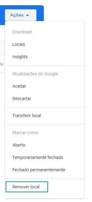 Como excluir empresa do Google Meu Negócio passo quatro
