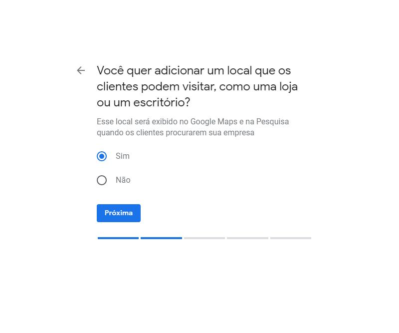 Como fazer anuncio no Google Maps passo quatro