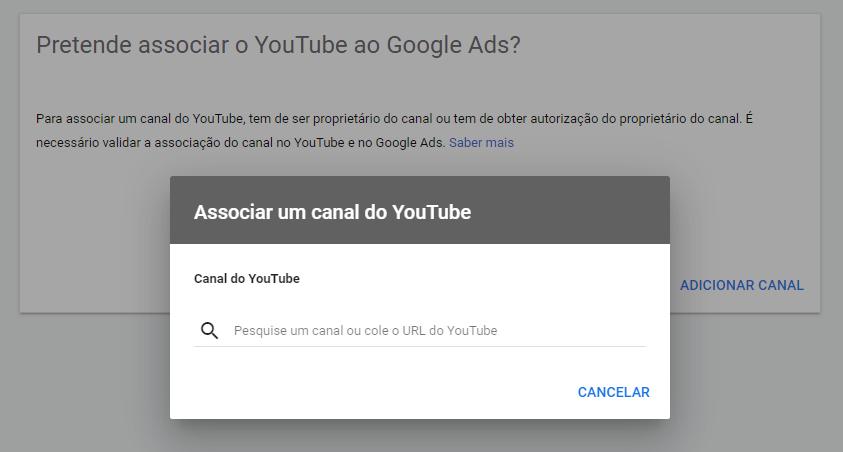 Como fazer anucios no YouTube passo dois