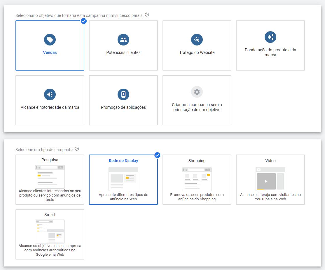 como fazer anuncio no Google para a rede de display passo 3
