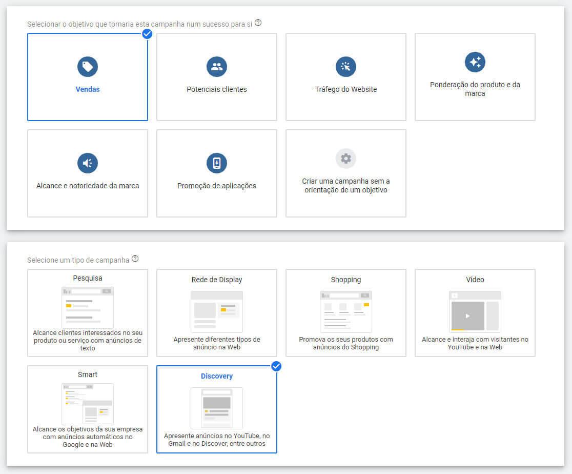 Como fazer anuncio no Google Discovery: Passo 1