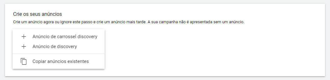 Como fazer anuncio no Google Discovery: Passo 3