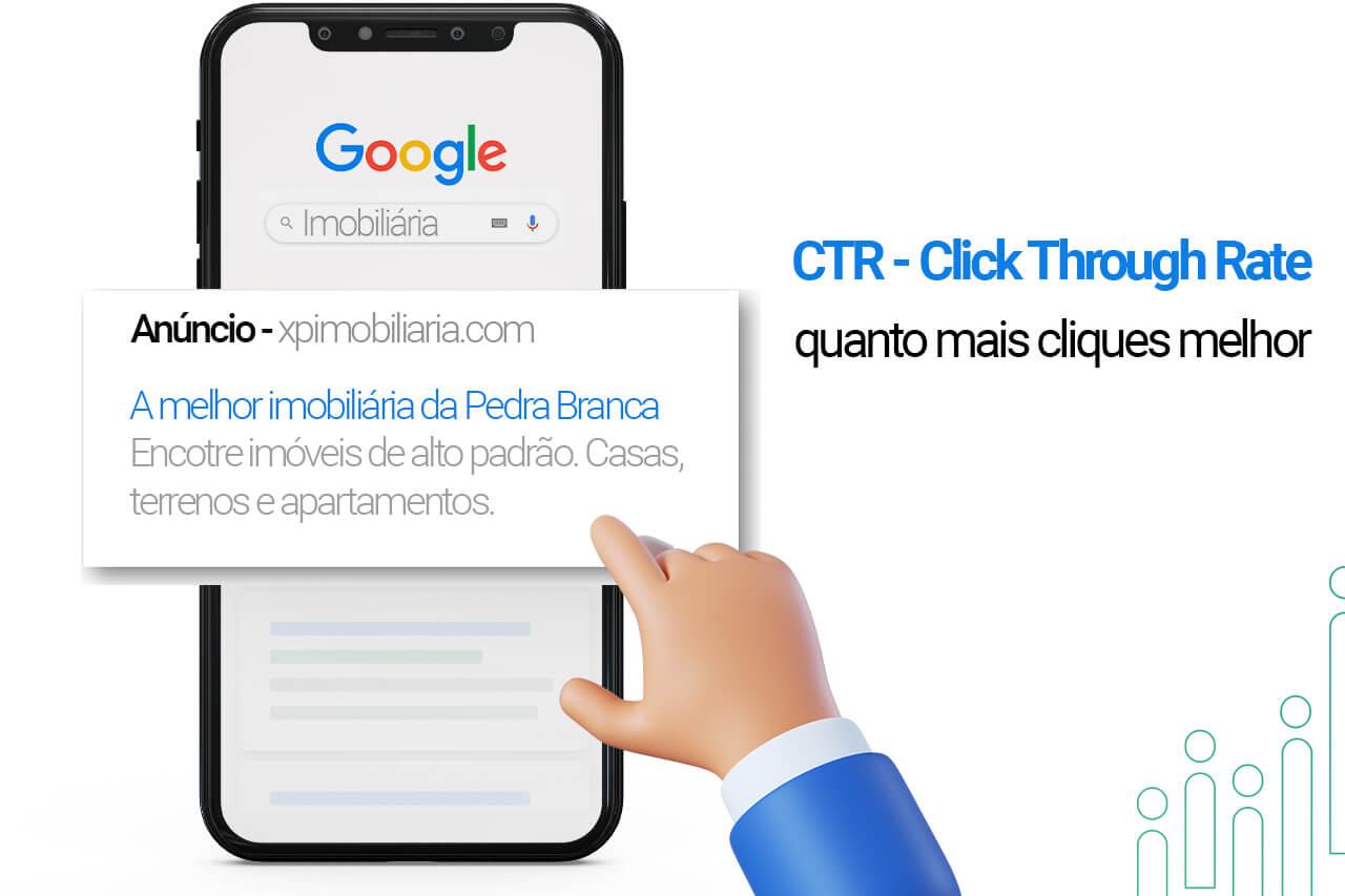 CTR melhora o indice de qualidade Google Ads