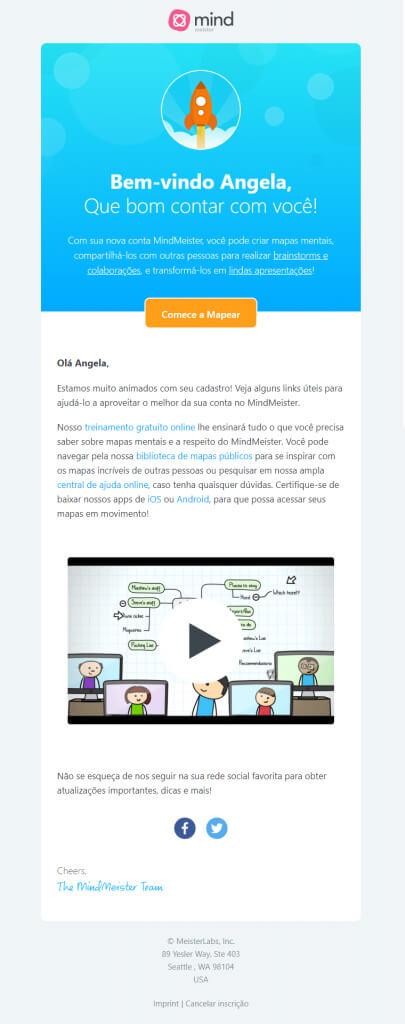 email marketing exemplos - Mind