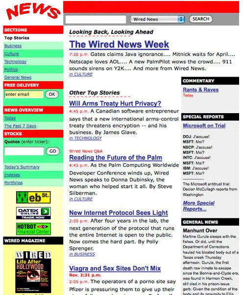 Primeiro exemplo de layout de site