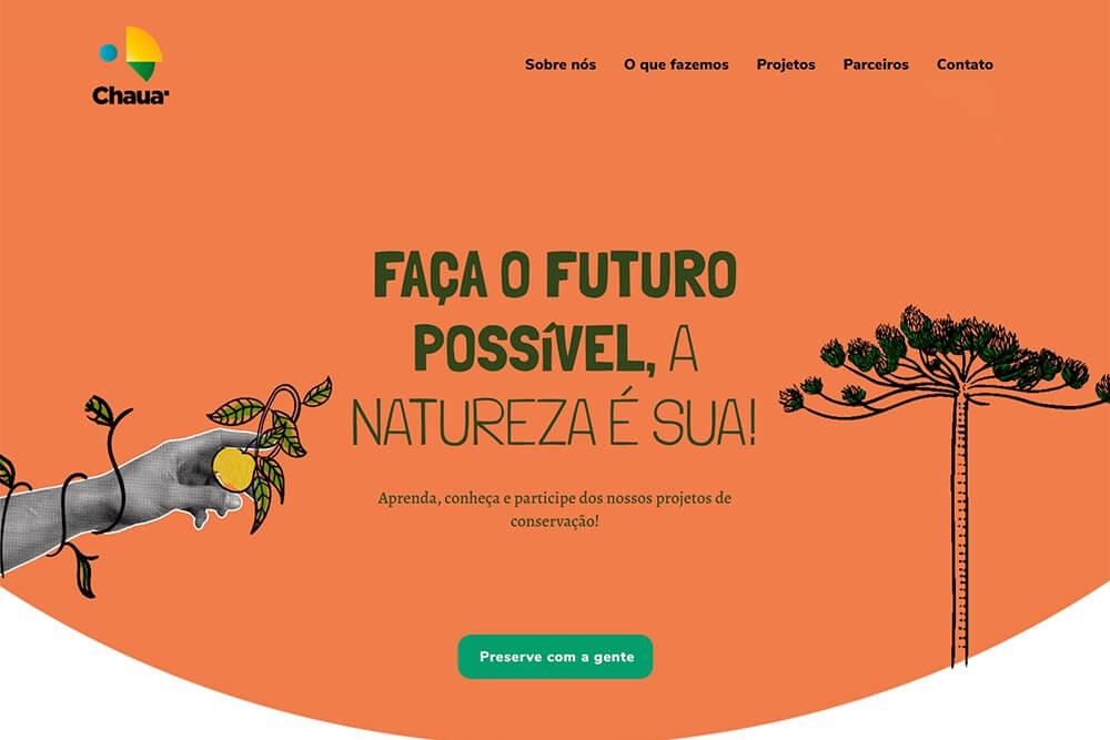 Exemplo de Site Institucional com mistura de fotografia