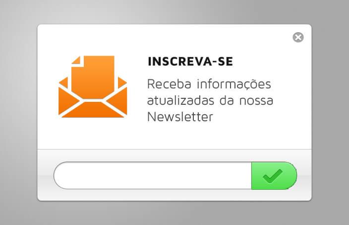 Botão Call To Action para Newsletter