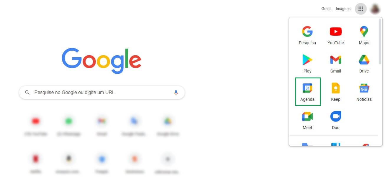 como acessar o Google Agenda