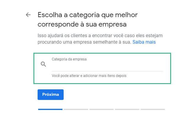 Google meu negocio cadastrar: passo cinco