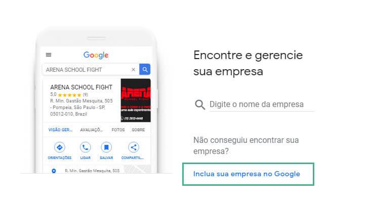 cadastro Google: passo três