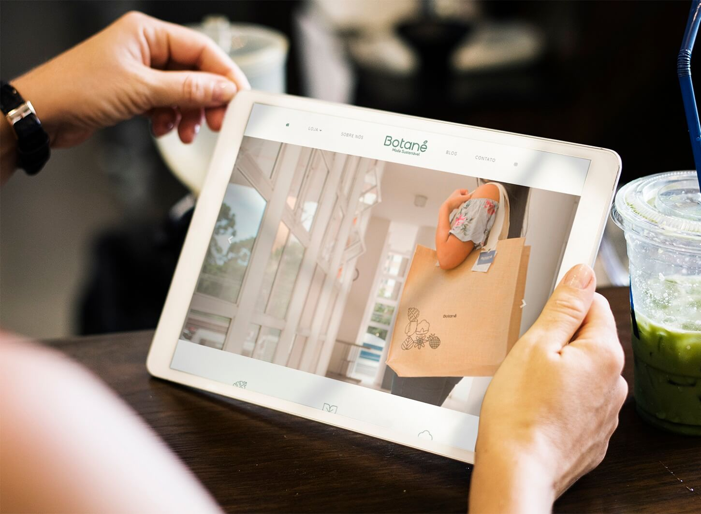 Exemplo de loja virtual responsiva para Moda Sustentável