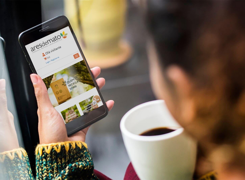 Exemplo de loja virtual responsiva para Produtos Naturais