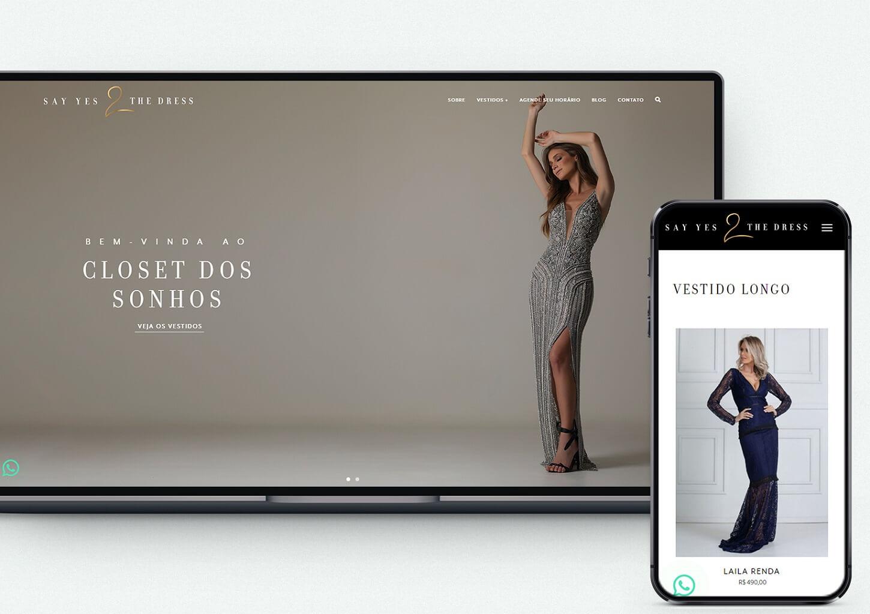 loja virtual responsiva exemplo para Roupas