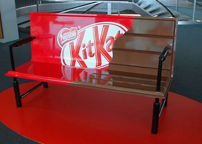 Marketing de Guerrilha Exemplos Kit-Kat