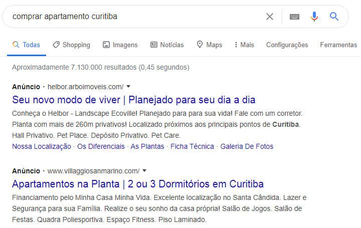 rede de pesquisa do Google Ads