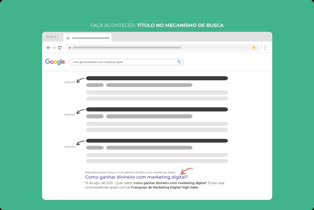 SEO faça acontecer Title Tag pesquisa