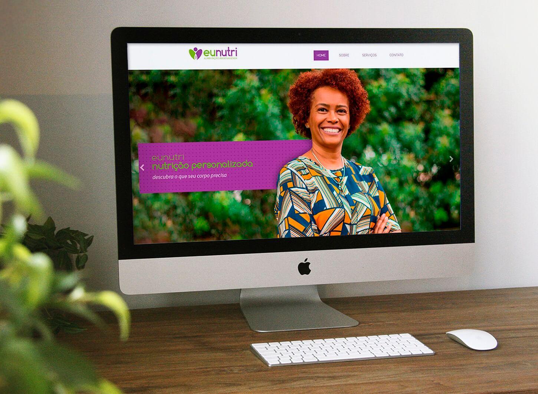 site responsivo exemplo para Nutricionistas