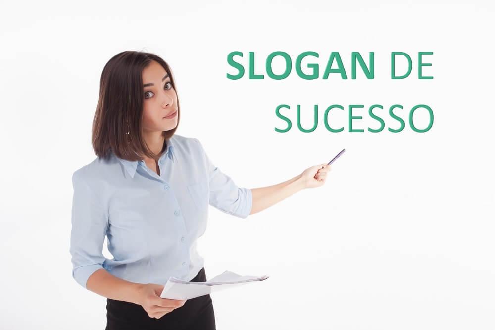 slogan a representação de sucesso