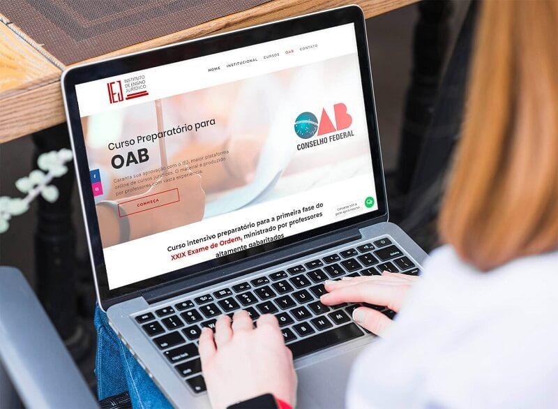 criação de sites profissionais para IEJ