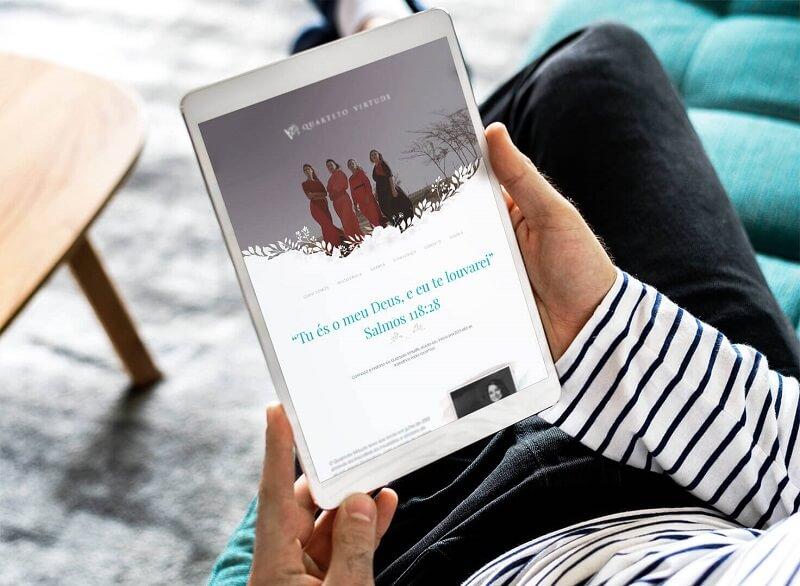 agencia de marketing digital para banda Quarteto Virtude